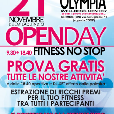 OPENDAY OLYMPIA Fitness NO STOP!